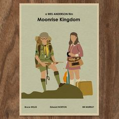 MOONRISE KINGDOM 16 x 12 Wes Anderson Movie Poster Print