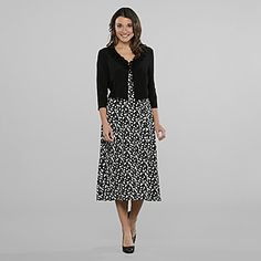 Danny & Nichole- -Women's 2 Pc Polka Dot Dress & Jacket