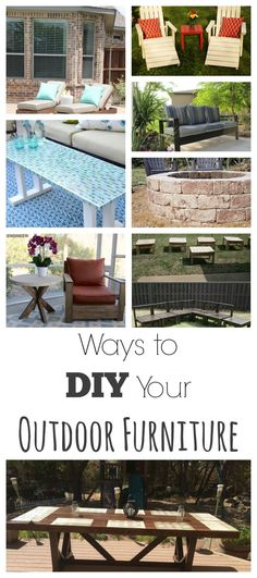LOVE #3, this outdoor furniture ideas are gorgeous!  This site also has hundreds of other tutorials and tips on painting anything in or outside of your home!  A must REPIN for DIYers