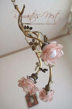Pink flower chandelier