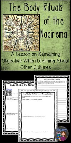 $ This lesson is a perfect introduction to the study of different cultures. It uses Horace Miner's 1956 article, The Body Rituals of the Nacirema, to illustrate how our biases affect our views of other cultures. After reading about the group of people called the Nacirema who rely on strange magical rites, students will be surprised to learn that the Nacirema are, in fact, Americans.