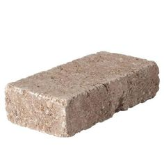 3.5 in. x 7 in. Cafe RumbleStone Mini Wall Block for my flower garden edges in the front yard......oh won't my husband be happy about our first landscaping project!
