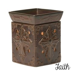 Faith Full-Size Warmer $30, #scentsy #Wickless #candle #warmer #faith #cross Visit my website Http://Kay91657.Scentsy.Us