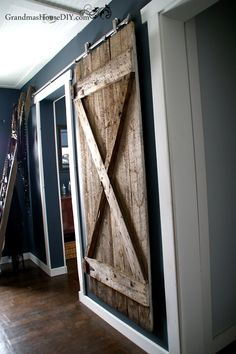 I Finally Got My Hanging Barn Door Up How To Install With Hardware