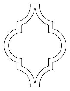 Moroccan pattern. Use the printable outline for crafts, creating stencils, scrapbooking, and more. Free PDF template to download and print at http://patternuniverse.com/download/moroccan-pattern/