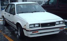 1984 Chevy Cavalier.  My first car.  Mine was tan with tan interior :/