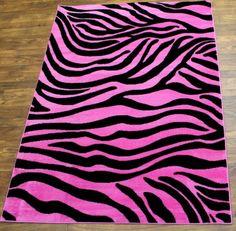 2383 Pink Fuscia Zebra Rug By Concord Global Soo Cute Animal Print