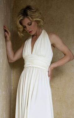 British Actress Emilia Fox, modelling a design for Kate Halfpenny, of Halfpenny London #grecian