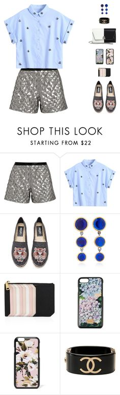 """Jewel VI"" by sol4nge ❤ liked on Polyvore featuring Karl Lagerfeld, Kenzo, She Bee, Miu Miu, Dolce&Gabbana, Chanel, Akris, espadrilles, rio and summerdatenight"