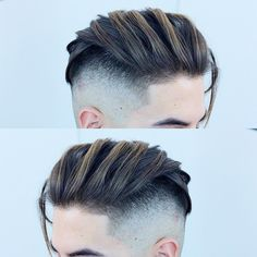 Cool undercut fade hairstyle for men #mensmediumhaircuts #mediumlengthhairmen #mediumhairmen #menshairtrends #undercut #undercutmen #undercutfade