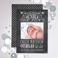 Chalkboard Photo Card, Baby Birth Announcement Baby Announcement Cards, Birth Announcements, Newborn Shoot, Baby Memories, Invitation Cards, Invitations, Baby Birth, Memory Books, Name Cards