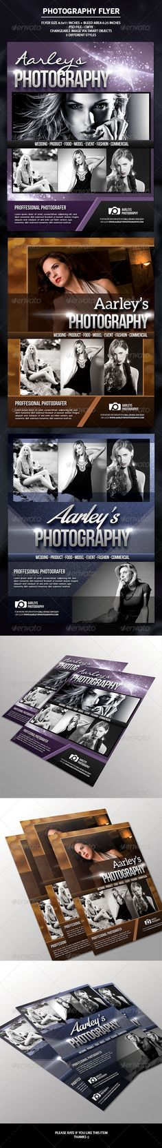 Buy Photography Flyer by arifpoernomo on GraphicRiver. This Photography Flyer, can be used for promote your photography business. Very easy to edit text and change images v. Photography Flyer, Photography Business, Wedding Photography, Photography Magazine, Flyer Printing, Change Image, Event Flyers, Flyer Layout, Print Templates