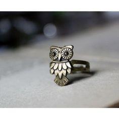 owl ring. LOVE