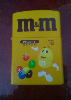 M&M's Peanut Zippo Lighter Style Hong Kong Rare!