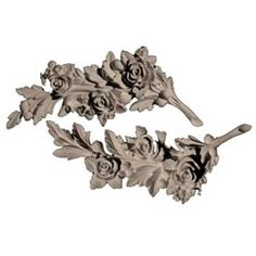 """SW-101 - 6 1/2""""W x 13""""H x 1/2""""D Floral Branch Swags, Resin - Pacific Columns, Inc. (800) 294-1098"""