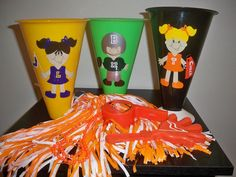 SPORTS THEME CHEERLEADING party favor megaphones by BeyondBalloons, $6.00
