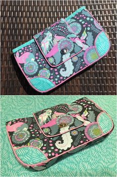 This clutch is the absolute perfect size.  I've made several for myself and friends - free sewing pattern and always great results.  One of my favorites.