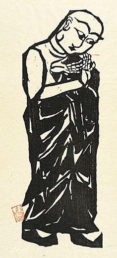 Tsumadachi, Munakata Shiko, 1958