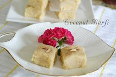 Are you interested in indian cooking friends? Then you have come to the right place! Indian Desserts, Indian Sweets, Easy Desserts, Indian Food Recipes, Coconut Burfi, Coconut Milk, Traditional Indian Food, Ginger Chutney, Vegetarian