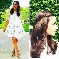 """""""The gorgeous Alia Bhatt all set for promotions of Shaandaar today. I love that she has been showing off some cool hairstyles during this time. . Rate Her…"""""""
