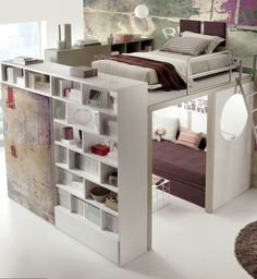 Eleanor saved to leinenhochbett im teenager zimmer maedchen-einrichtung-t. My New Room, My Room, Spare Room, Space Saving Ideas For Home, Awesome Bedrooms, Awesome Beds, Cool Bedroom Ideas, Coolest Bedrooms, Coolest Beds