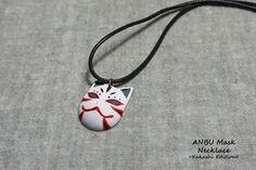 ANBU Mask Necklace Kakashi by DirtBloks on Etsy https://www.etsy.com/listing/224748713/anbu-mask-necklace-kakashi