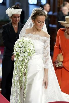 Claire Coombs at her wedding to Prince Laurent of Belgium.