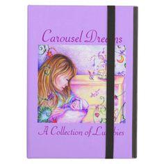 Carousel Dreams Powis Hard Cover iPad Air Case by #MoonDreamsMusic #iPadAirCase #Powis #purple #CarouselDreams