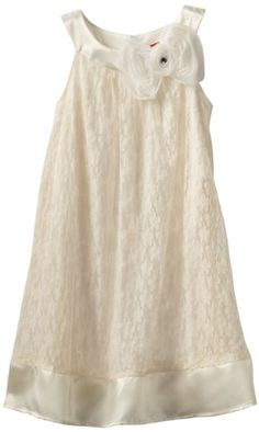 Flower Girl Dress - Ruby Rox Girls 7-16 Lace Dress: Clothing - This could do nicely for Aurora if I get to do a vow renewal at our Ten year...