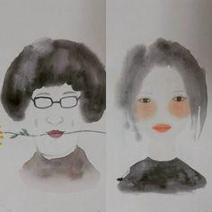 #그 #그녀 #웃지마 #ㅎㅎ #수채 #벌써이년 #drawing