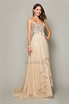 A-Line/Princess Strapless Sweetheart Chiffon Prom Dress - IZIDRESS.com at IZIDRESS.com