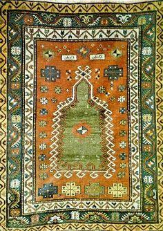 Turkish carpet from the Konya region of central Turkey.