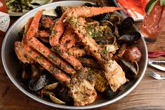 Boiled Seafood Dishes, Best Seafood Restaurant New Orleans, LA Cajun Dishes, Seafood Dishes, Seafood Recipes, Seafood House, Best Seafood Restaurant, Ahi Tuna Salad, Seafood Boil, Catering Services, Pot Roast