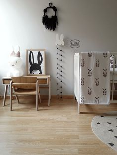 Monochrome baby boy nursery- full of light and cute details. Click over to see the whole room.