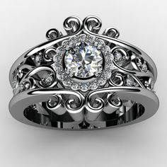 Engagement Ring by Marion Rehwinkel Jewellery Detailed Engagement Ring