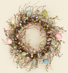 Spring Wildflowers & Berries w/Bees & Wo Wreath | NEW 2014 Country ...