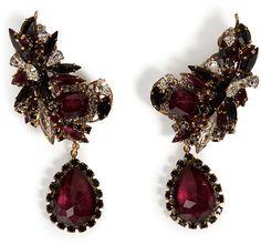$423, Queen Bee Ear Earrings In Burgundy by Erickson Beamon. Sold by STYLEBOP.com.