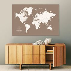 Navy world map by wayfaren gifts for the traveler travel gifts push pin travel map push pin world map pin map custom map world travel map world map canvas push pin map large world map travel map gumiabroncs Image collections