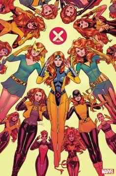 X-Men variant cover - Jean Grey by Russell Dauterman * Marvel Xmen, Marvel Comics Art, Marvel Comic Books, Marvel Heroes, Marvel Comic Character, Captain Marvel, Anime Comics, Captain America, Comic Book Artists