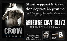 ♥Enter the #giveaway for a chance to win a $10 GC♥ StarAngels' Reviews: Release Blitz ♥ Crow by A. Zavarelli ♥ #giveaway $...