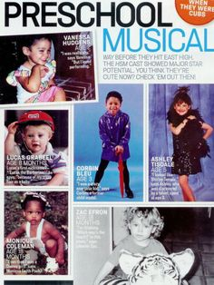 Stars of High School Musical childhood photos