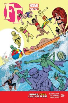 FF Vol. 2 #9  What happens? POOL PARTY. Who do they fight? POOL PARTY. What do we get? POOL PARTY.