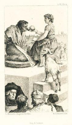 Livre VI, Chapitre 4 Illustration pour Notre-Dame de Paris de Victor Hugo Gravure de Louis Monziès d'après Henri Pille Collection particulière
