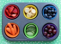 Muffin Tin Monday - rainbow of food for St. Patricks Day by anotherlunch.com on Flickr.