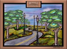 Baton Rouge artist, June Jackson, used colored pencils and digital media to produce this landscape piece that features Six Sided French Quarter Lanterns on Holland Posts. For more work, visit her website! Digital Art Gallery, French Quarter, Digital Media, Colored Pencils, Holland, Lanterns, Jackson, Interior Decorating, June