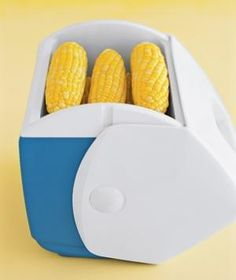 Mini Cooler as a Side Dish Warmer -- Use a small cooler to fake a perfectly timed meal if side dishes (like corn on the cob) are ready before the main course. Simply store the early sides in the insulated case to retain their warmth.