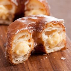 Cronut w/Haupia Pastry Cream If you are like me, I went crazy over cronuts... a cross between donuts and croissants. Brilliant! I wanted to try this recipe with a coconut haupia cream instead of the regular pastry cream and it turned out fabulous!