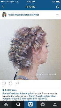 Braided updo, found on Instagram