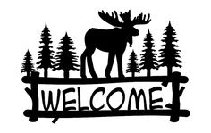 The vector file Welcome Moose dxf File is AutoCAD DXF ( .dxf ) CAD file type, size is KB, under moose, welcome signs vectors. Vinyl Crafts, Diy Arts And Crafts, Vinyl Projects, Circuit Projects, Moose Silhouette, Silhouette Machine, Cricut Vinyl, Svg Files For Cricut, Moose Decor