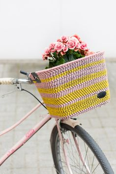 DIY woven bike basket | Kittenhood